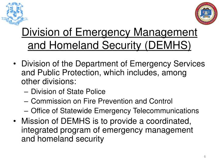 Division of Emergency Management and Homeland Security (DEMHS)