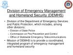 division of emergency management and homeland security demhs