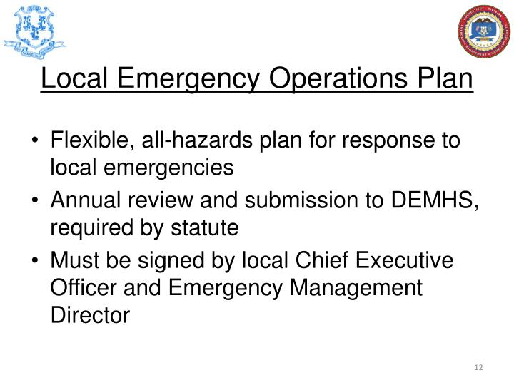 Local Emergency Operations Plan