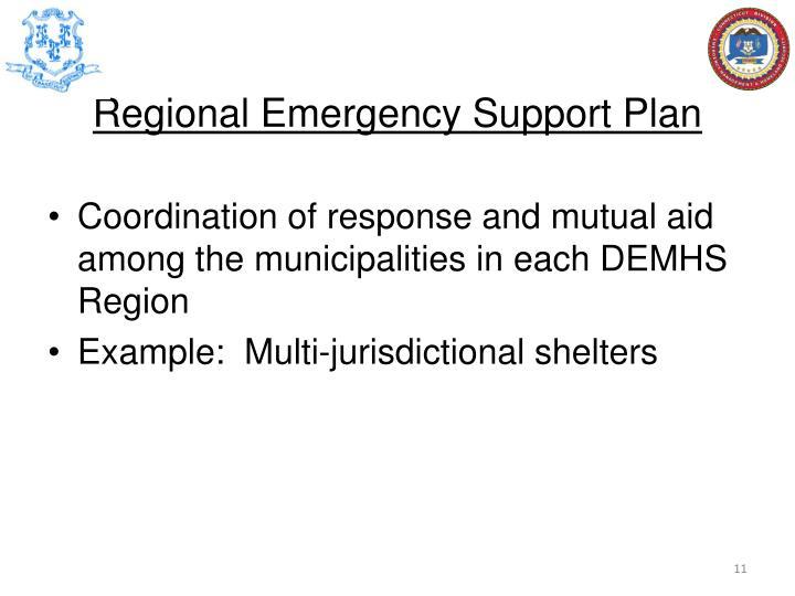 Regional Emergency Support Plan
