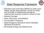 state response framework