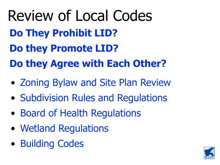 Review of Local Codes