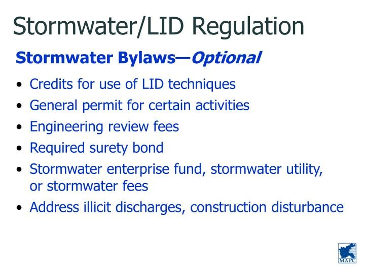 Stormwater/LID Regulation