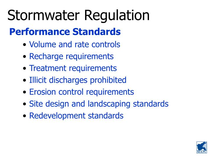Stormwater Regulation