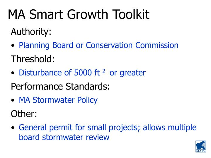 MA Smart Growth Toolkit