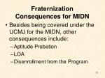 fraternization consequences for midn