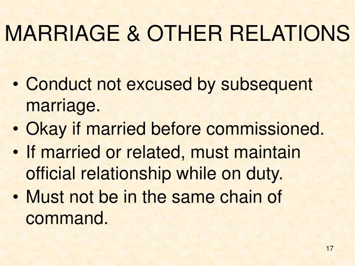 MARRIAGE & OTHER RELATIONS