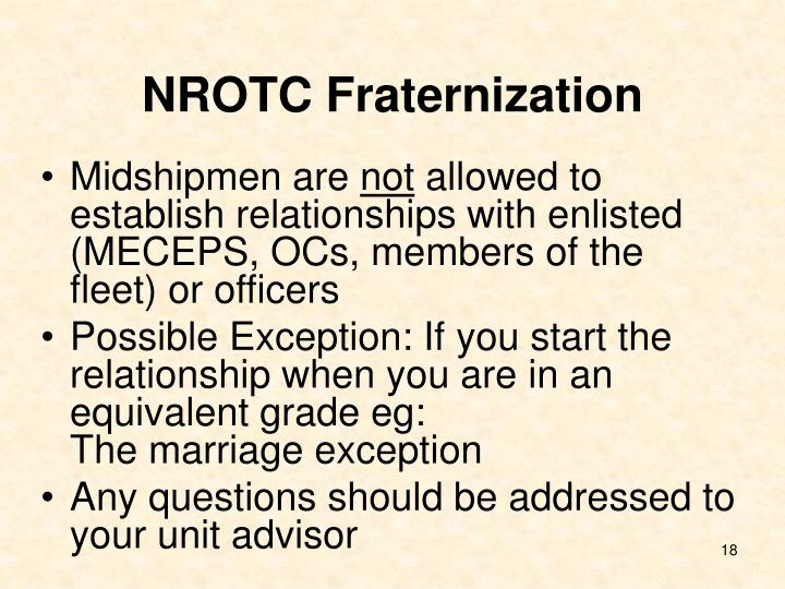 NROTC Fraternization