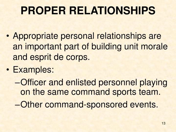 PROPER RELATIONSHIPS
