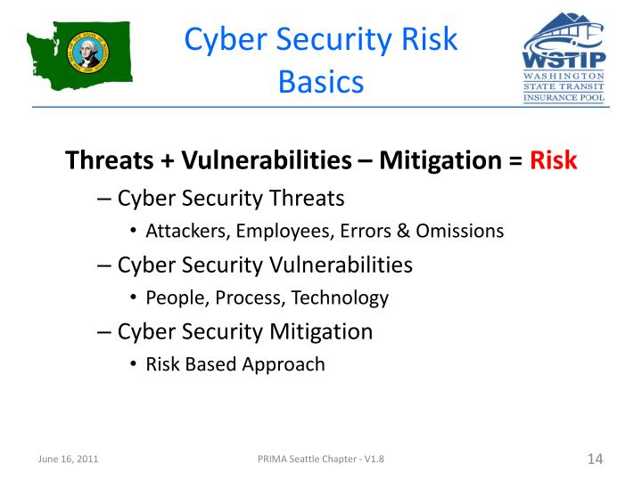 Cyber Security Risk Basics