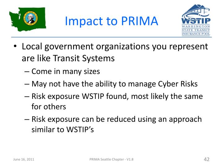 Impact to PRIMA