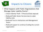 impacts to citizens