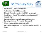 isb it security policy