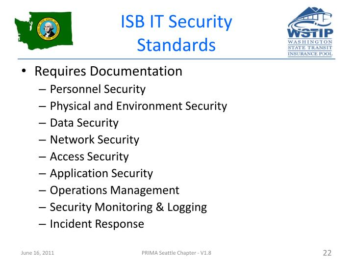 ISB IT Security Standards