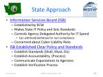 state approach