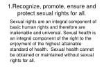 1 recognize promote ensure and protect sexual rights for all