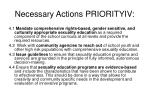 necessary actions priorityiv