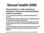sexual health 2002