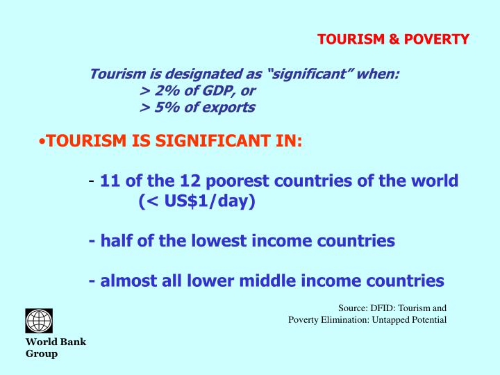 TOURISM & POVERTY