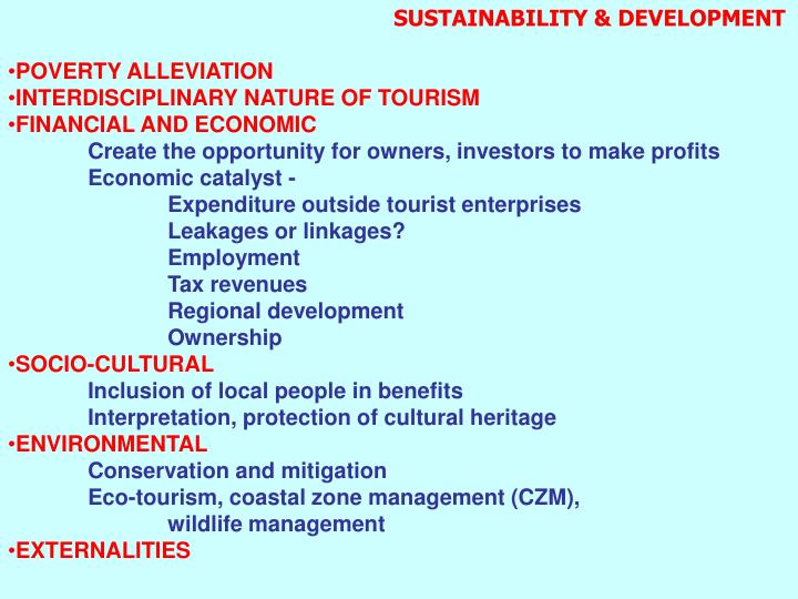 SUSTAINABILITY & DEVELOPMENT