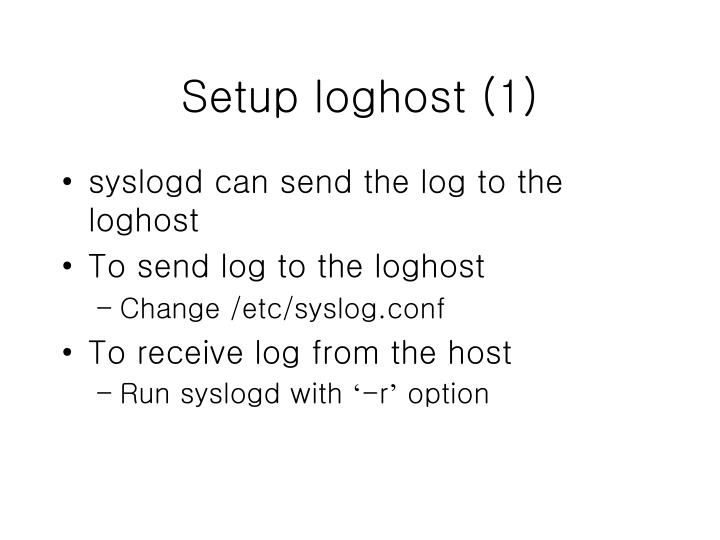 Setup loghost (1)