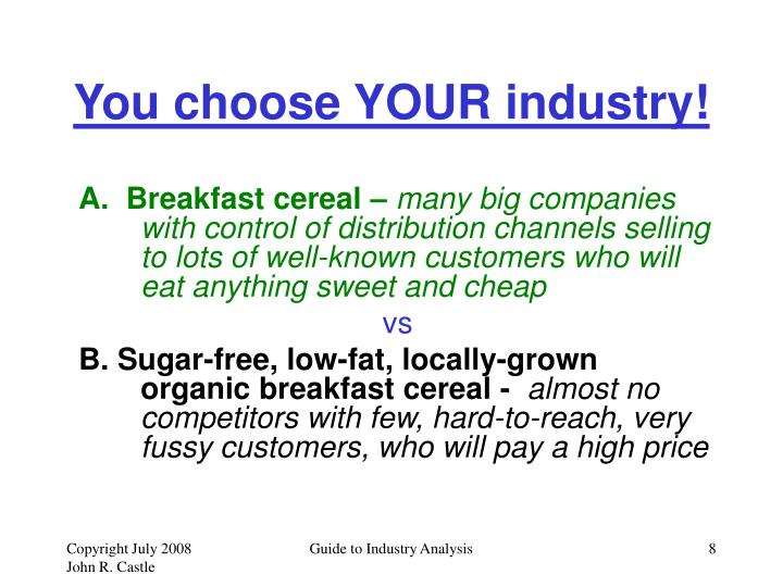 You choose YOUR industry!
