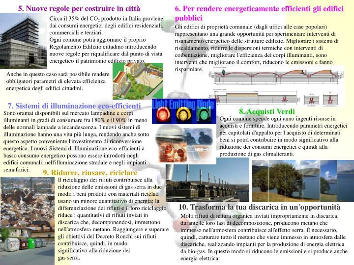 5. Nuove regole per costruire in città