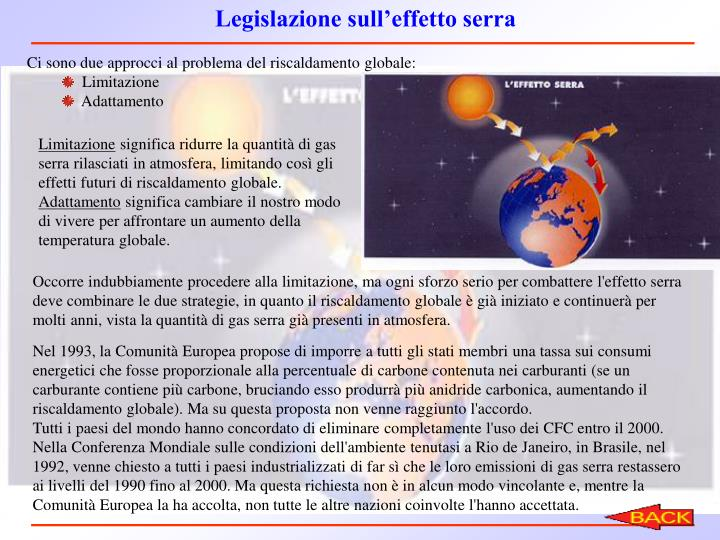 Legislazione sull'effetto serra