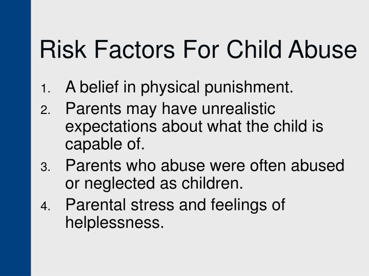 Risk Factors For Child Abuse