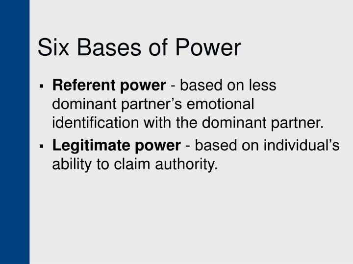 Six Bases of Power