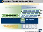 business flexibility through esa