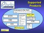 supported products