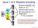 issue 1 of 3 wasteful encoding