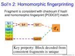 sol n 2 homomorphic fingerprinting
