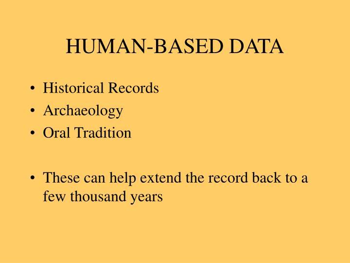 HUMAN-BASED DATA