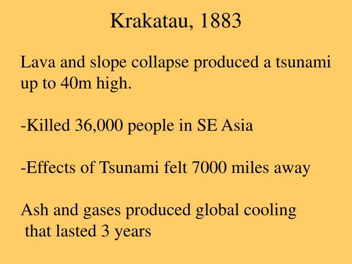 Krakatau, 1883