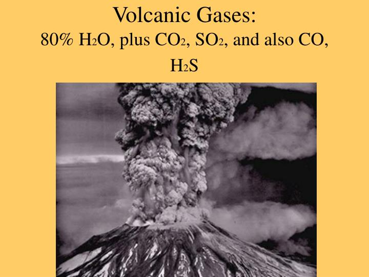 Volcanic Gases: