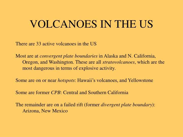 VOLCANOES IN THE US