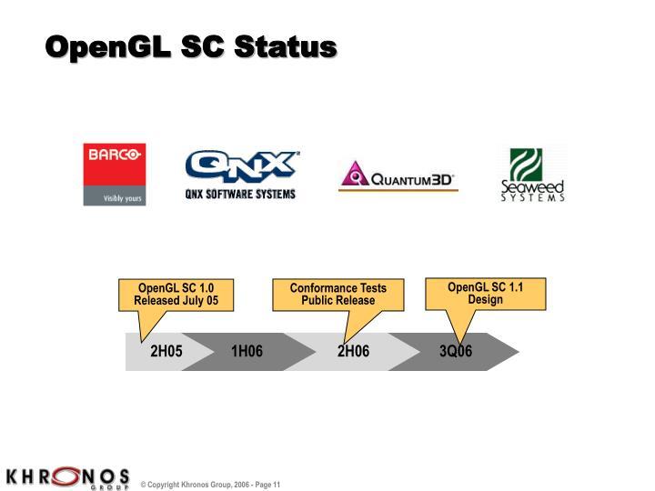 OpenGL SC Status