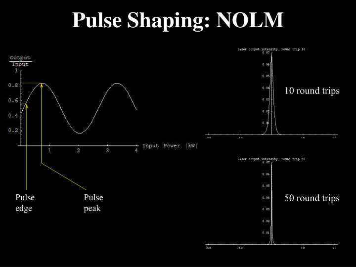 Pulse Shaping: NOLM