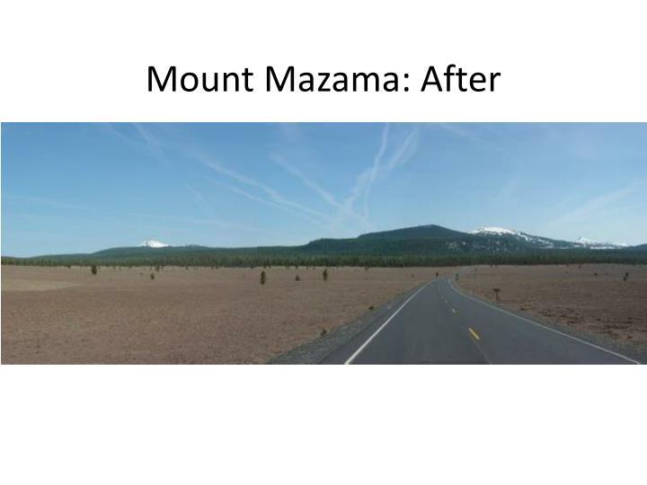 Mount Mazama: After