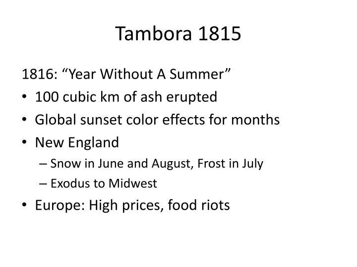 Tambora 1815