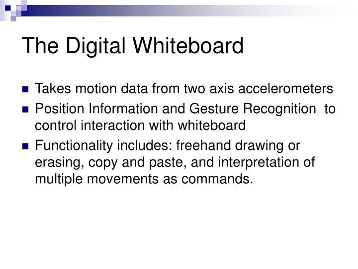 The Digital Whiteboard