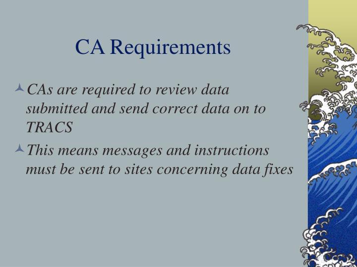 CA Requirements