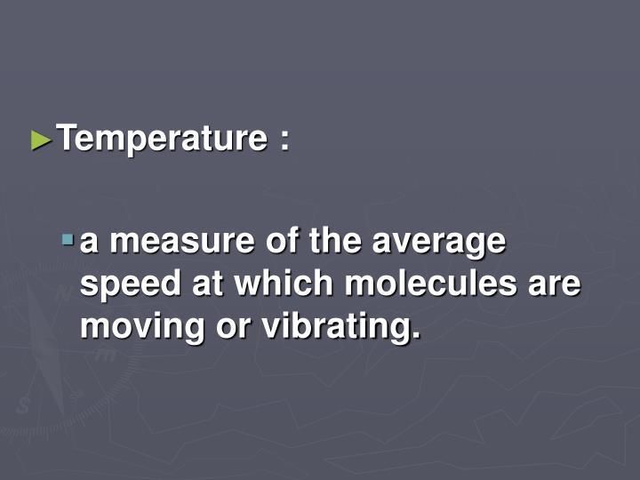 Temperature :