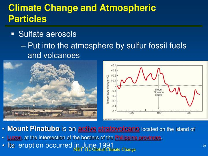 Climate Change and Atmospheric Particles