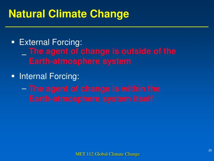 External Forcing: