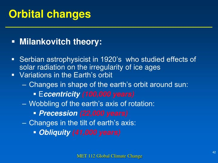 Milankovitch theory: