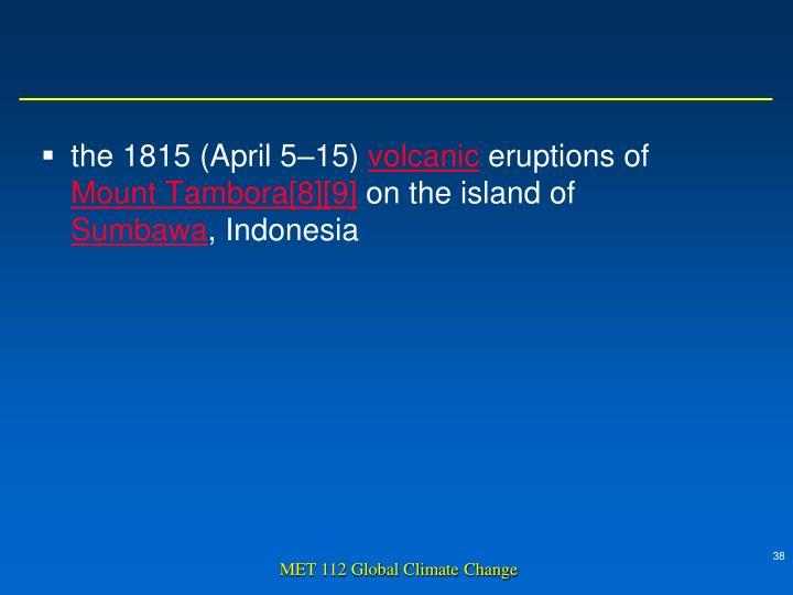 the 1815 (April 5–15)