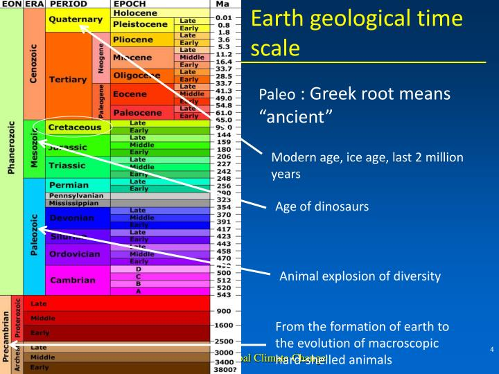Earth geological time scale